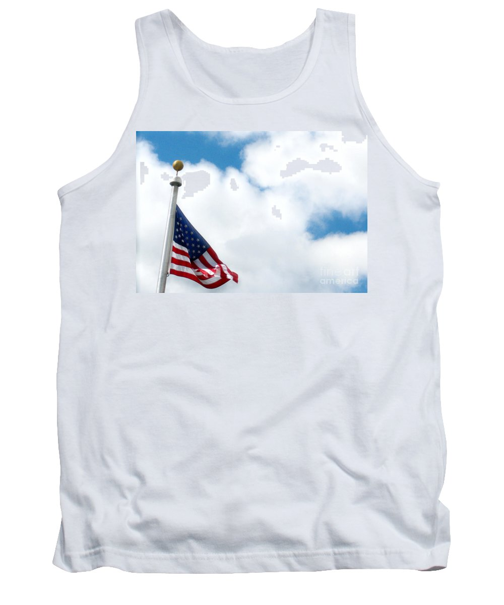 Flag Tank Top featuring the photograph When Shall Truth Set Us Free? by Rory Sagner