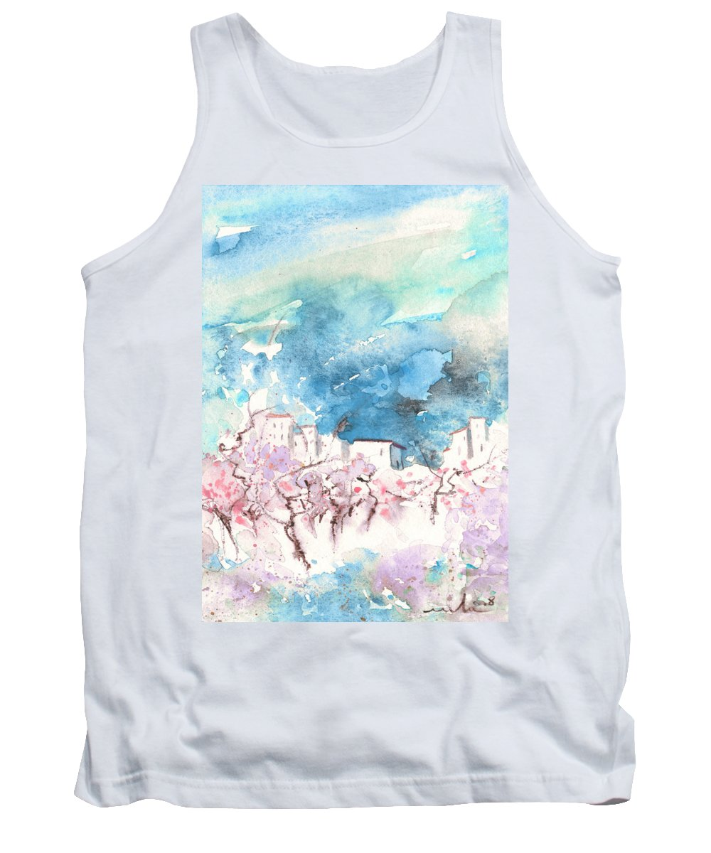 Travel Art Tank Top featuring the painting When Trees Were Still Trees by Miki De Goodaboom