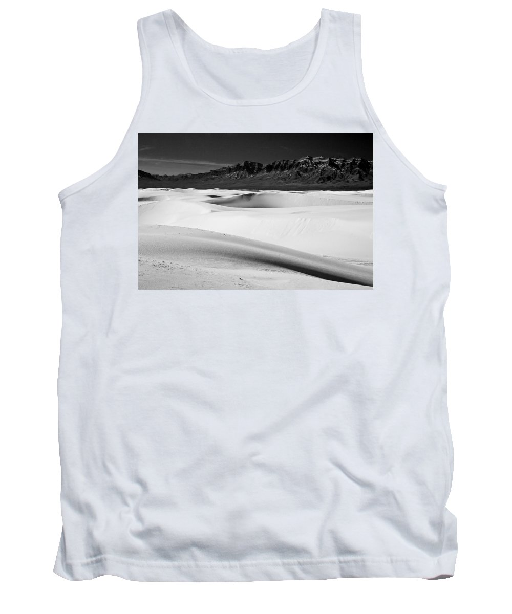 White Sands National Monument Tank Top featuring the photograph White In White Sands by Ralf Kaiser