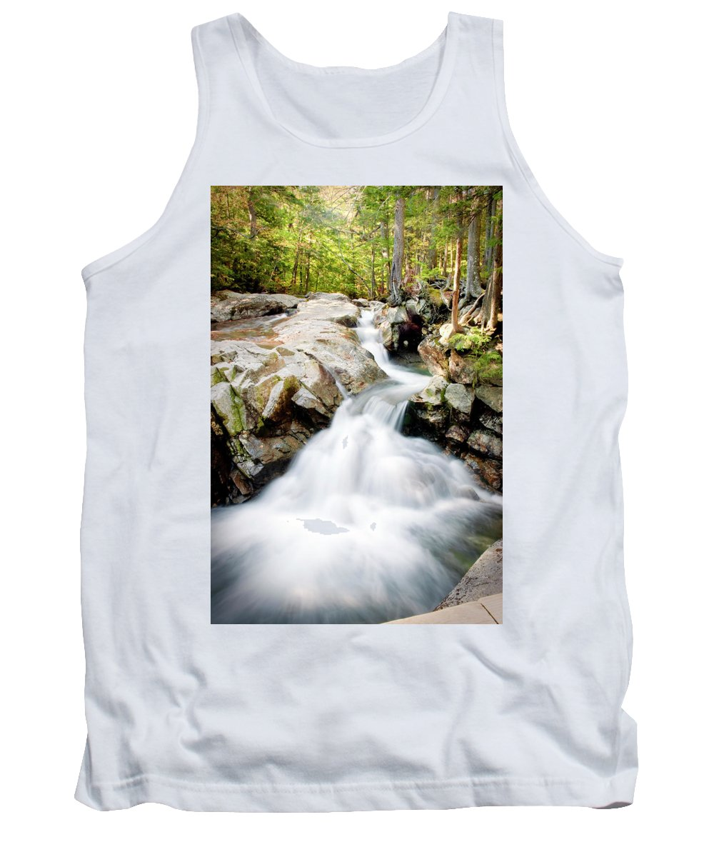 Waterfall Tank Top featuring the photograph White Water by Greg Fortier