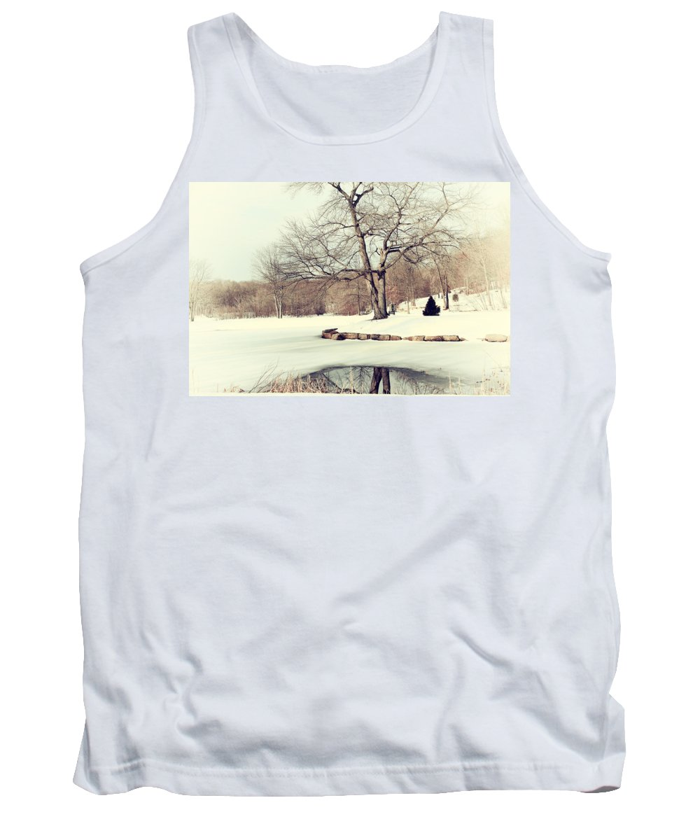 Winter Tank Top featuring the photograph Winter Day In The Park by Karol Livote