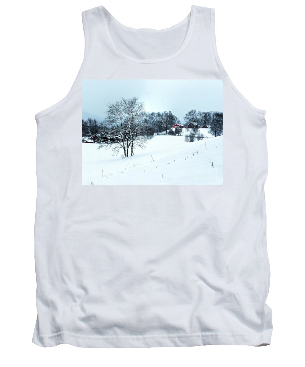Alone Tank Top featuring the photograph Winter Landscape 1 by Dan Stone