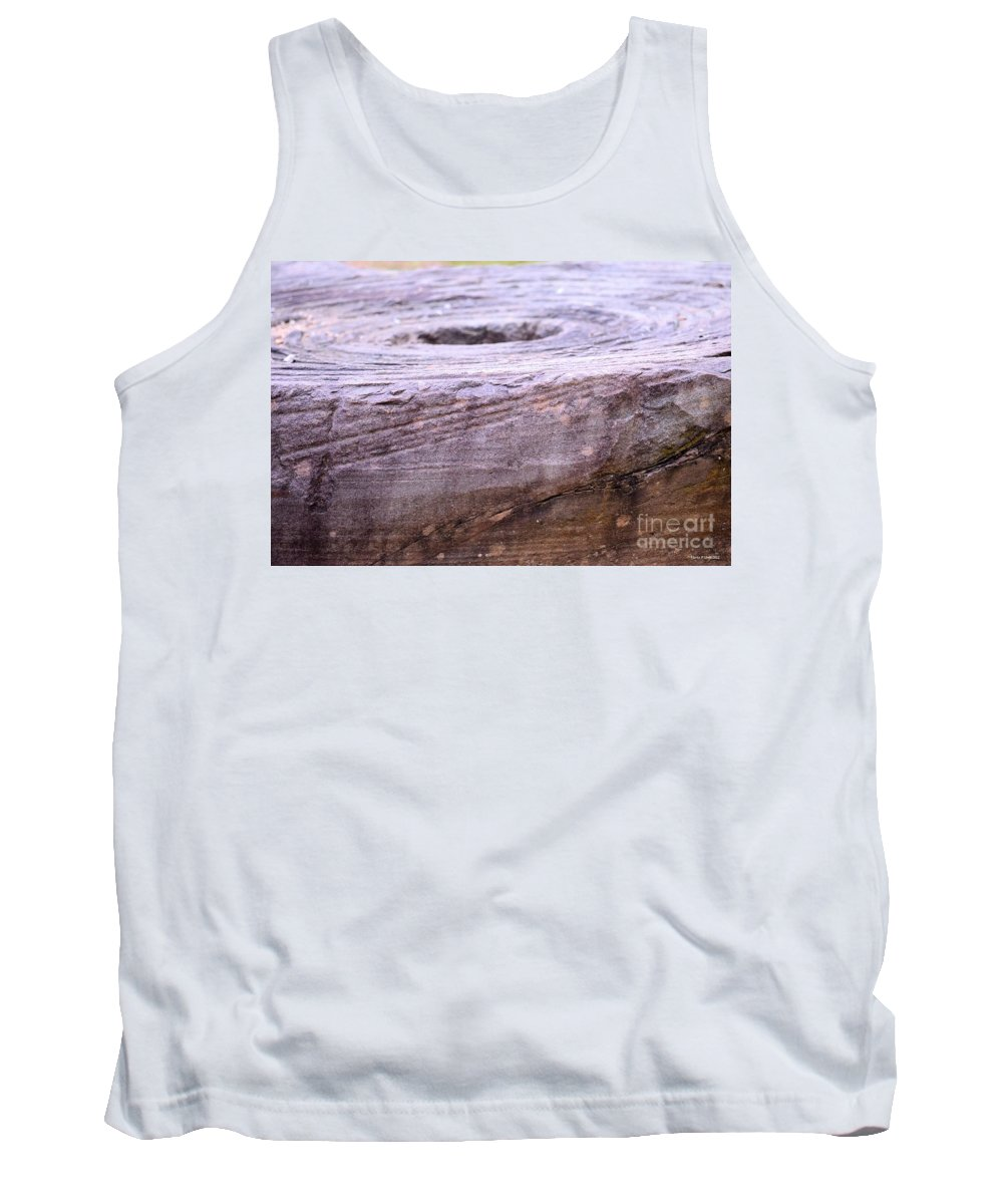Wooden Ring Abstract Tank Top featuring the photograph Wooden Ring Abstract by Maria Urso