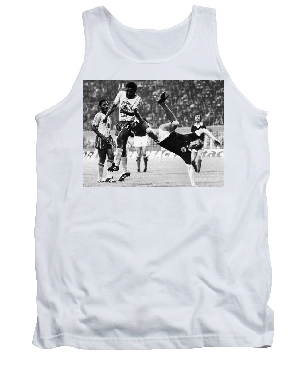 1974 Tank Top featuring the photograph World Cup, 1974 by Granger