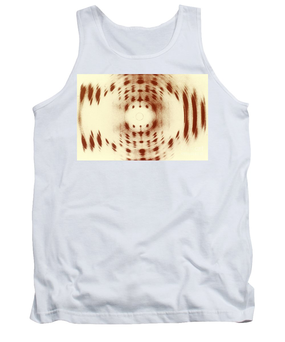 Dna Tank Top featuring the photograph X-ray Diffraction by Omikron