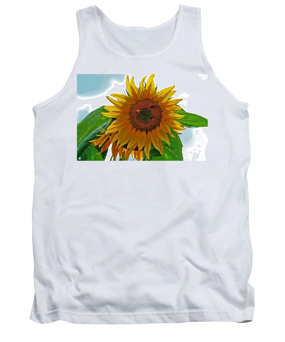 Agriculture Tank Top featuring the photograph Yellow Sunflower by Susan Leggett