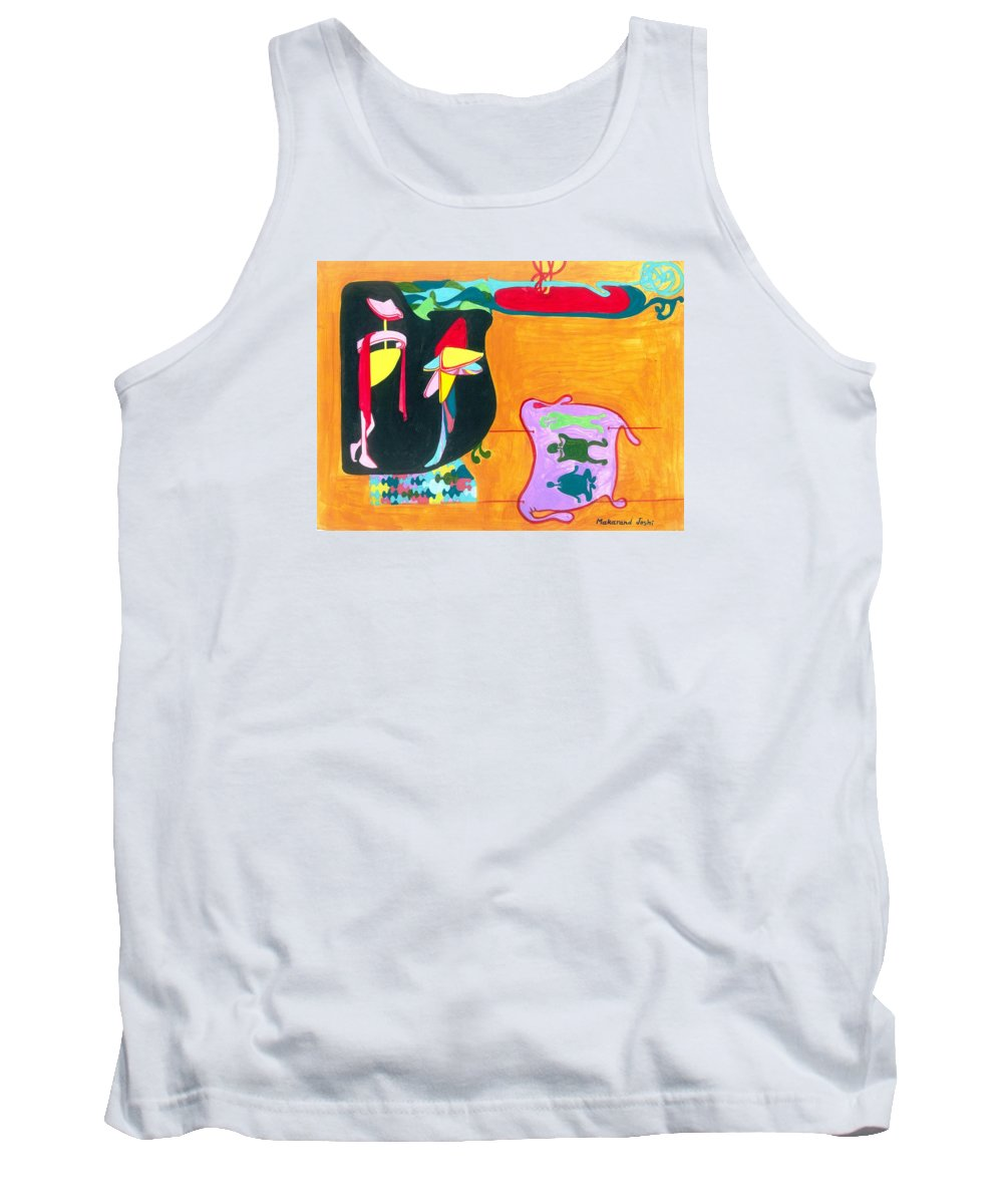 Tank Top featuring the painting Beauty Contest For Aliens by Makarand Joshi