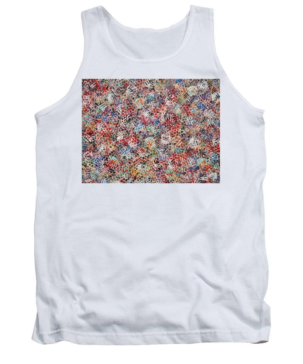 Golf Tank Top featuring the painting Golf by Natalie Holland