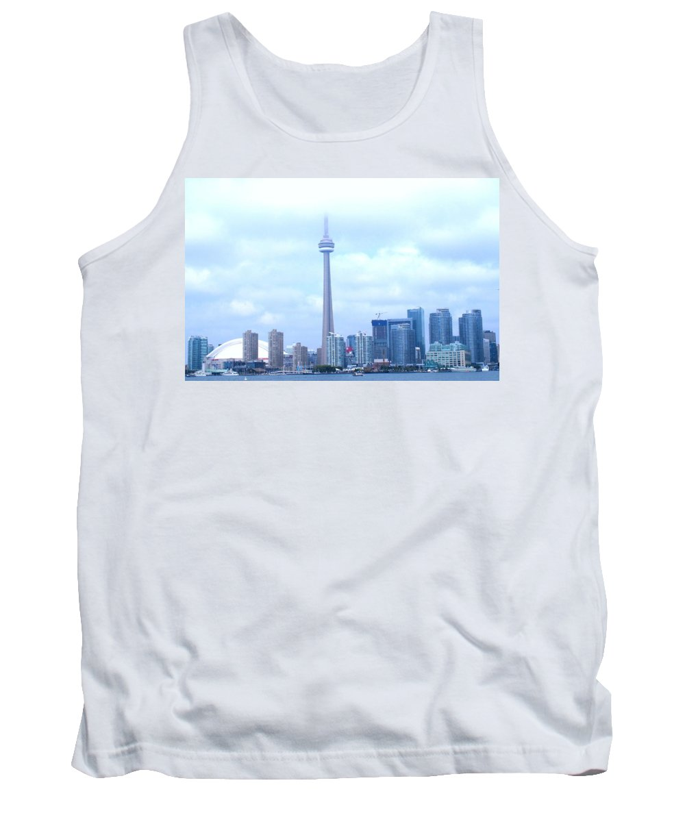Toronto Tank Top featuring the photograph Lost In The Clouds by Ian MacDonald
