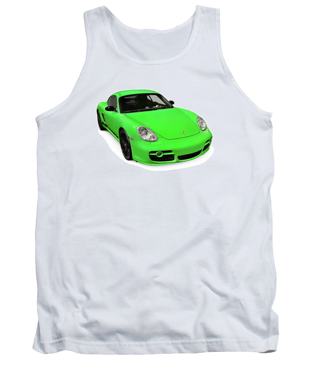 Porsche Tank Top featuring the photograph 2008 Porsche Cayman S Sport by Oleksiy Maksymenko