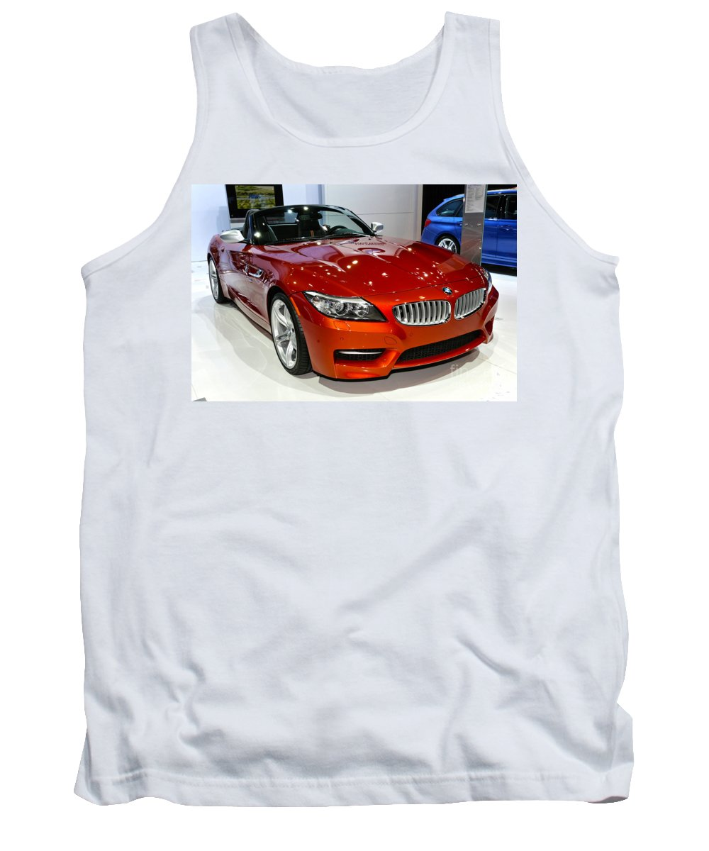 Art Tank Top featuring the photograph 2014 Bmw Z4 Roadster Sdrive35is by Alan Look