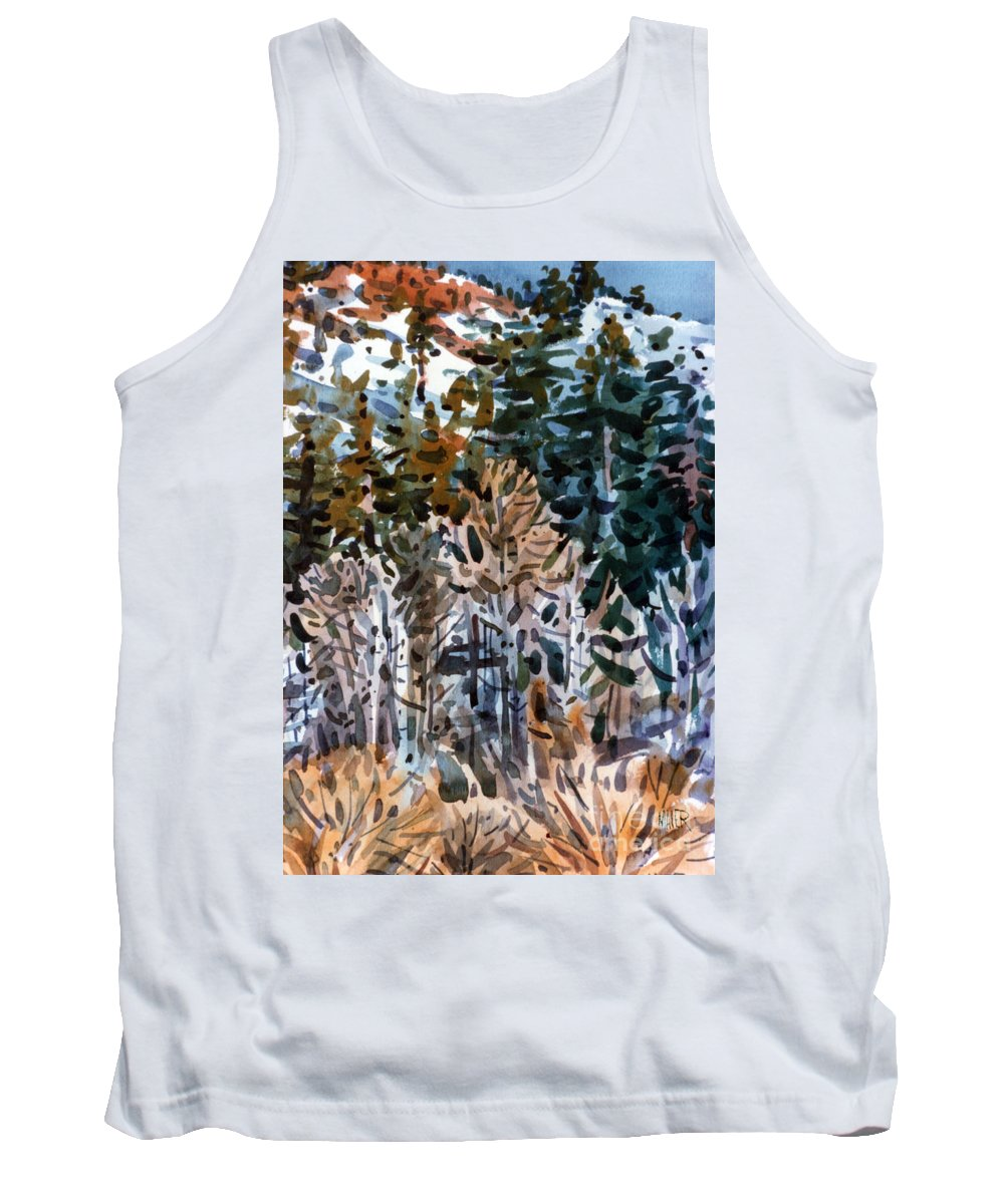 Walker River Tank Top featuring the painting Along The Walker River by Donald Maier