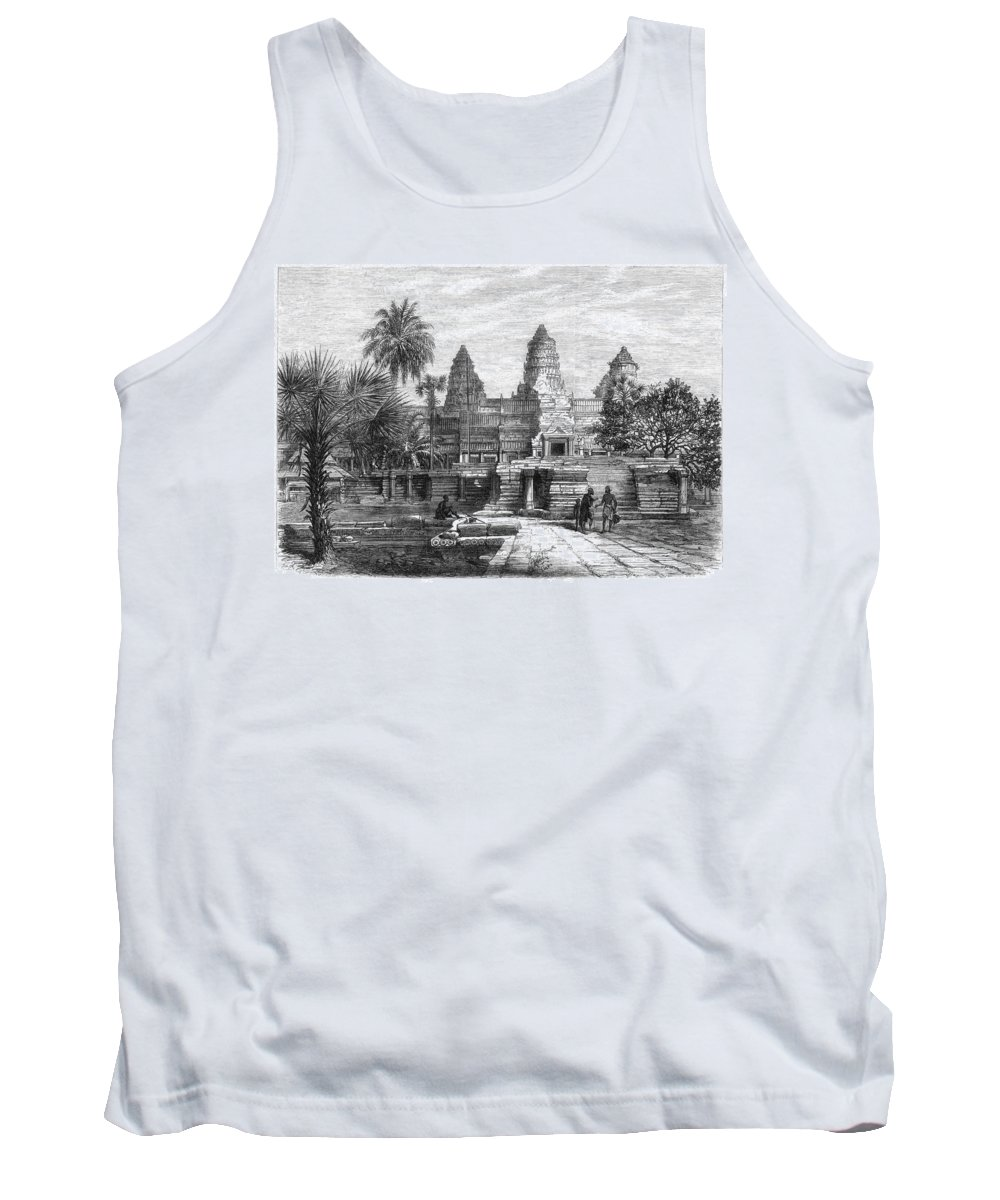 1868 Tank Top featuring the photograph Angkor Wat, Cambodia, 1868 by Granger