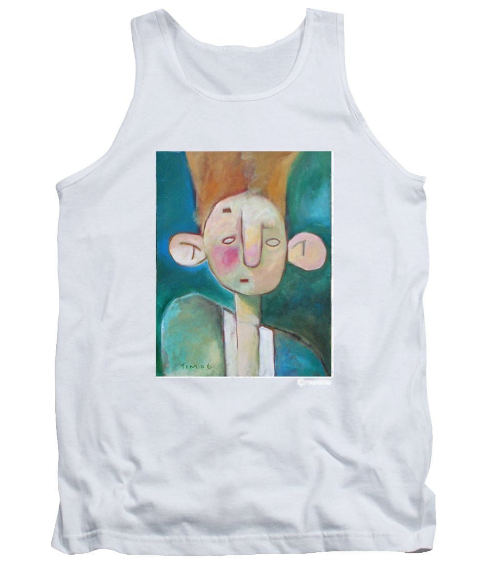 Funny Tank Top featuring the painting Bad Hair Life by Tim Nyberg