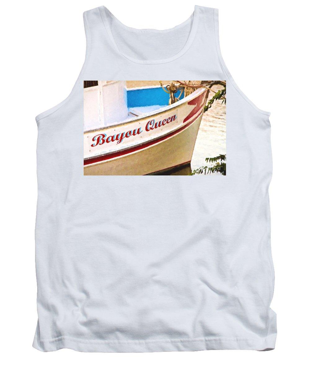 Bayou Tank Top featuring the photograph Bayou Queen by Scott Pellegrin