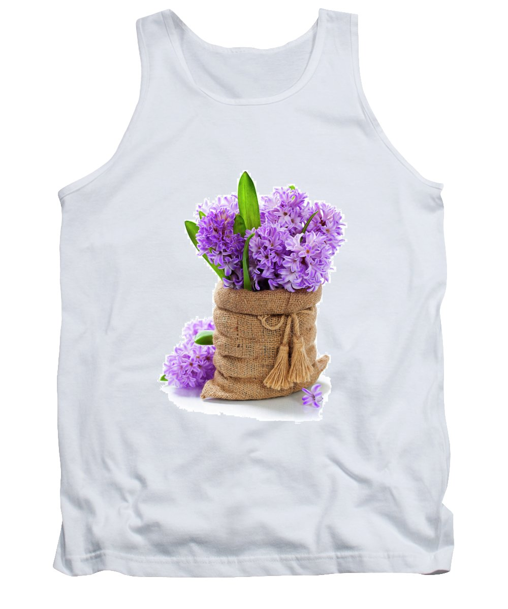 Flower Tank Top featuring the photograph Beautiful Hyacinths by Natalia Klenova