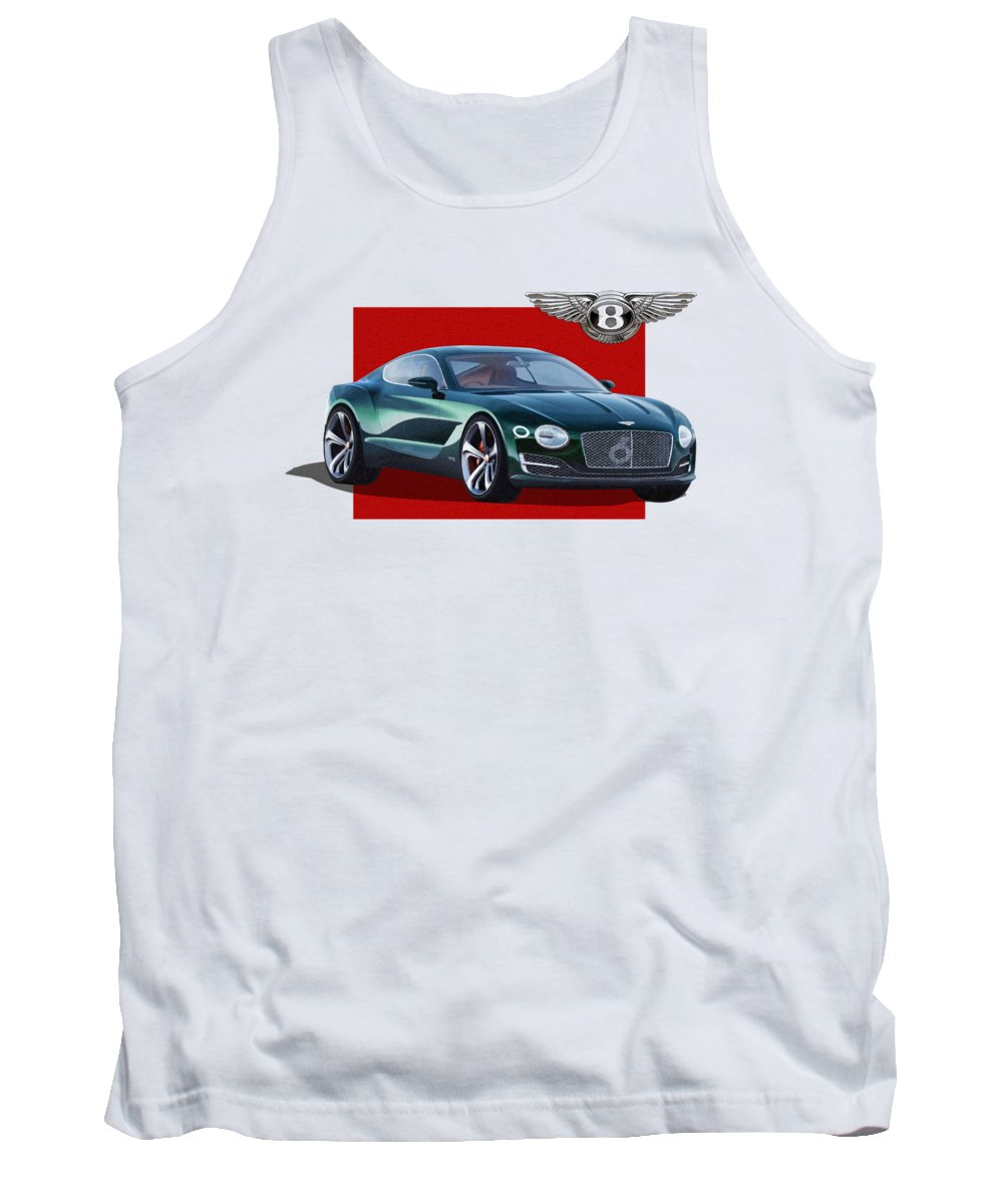�bentley� Collection By Serge Averbukh Tank Top featuring the photograph Bentley E X P 10 Speed 6 With 3 D Badge by Serge Averbukh