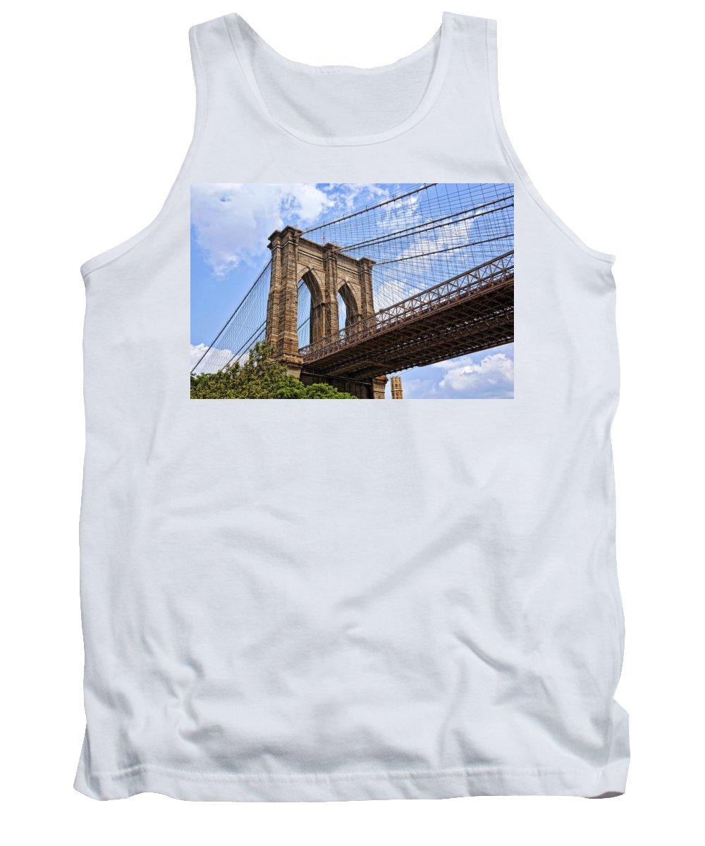 Bridge Tank Top featuring the photograph Brooklyn Bridge Ny by Kelley King
