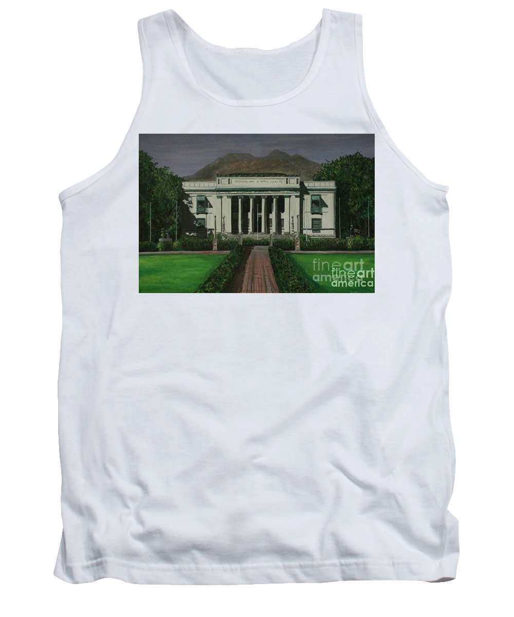 Dumaguete Tank Top featuring the painting Capitol Building Negros Oriental by Richard John Holden RA
