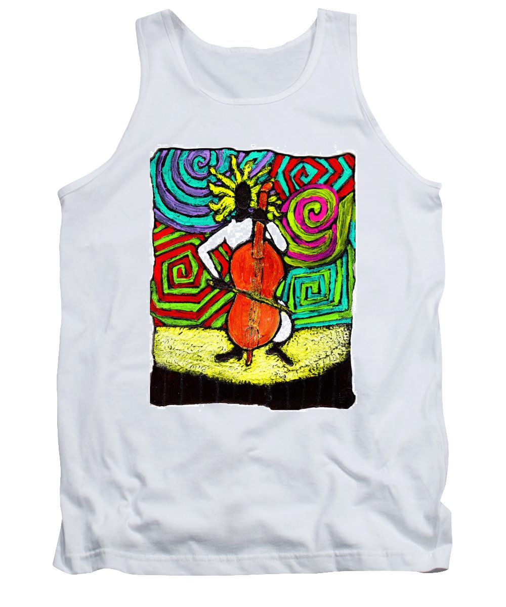 Music Tank Top featuring the painting Cello Soloist by Wayne Potrafka