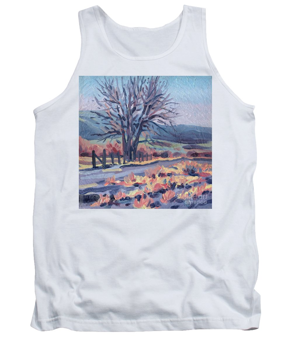Road Tank Top featuring the painting Country Road by Donald Maier