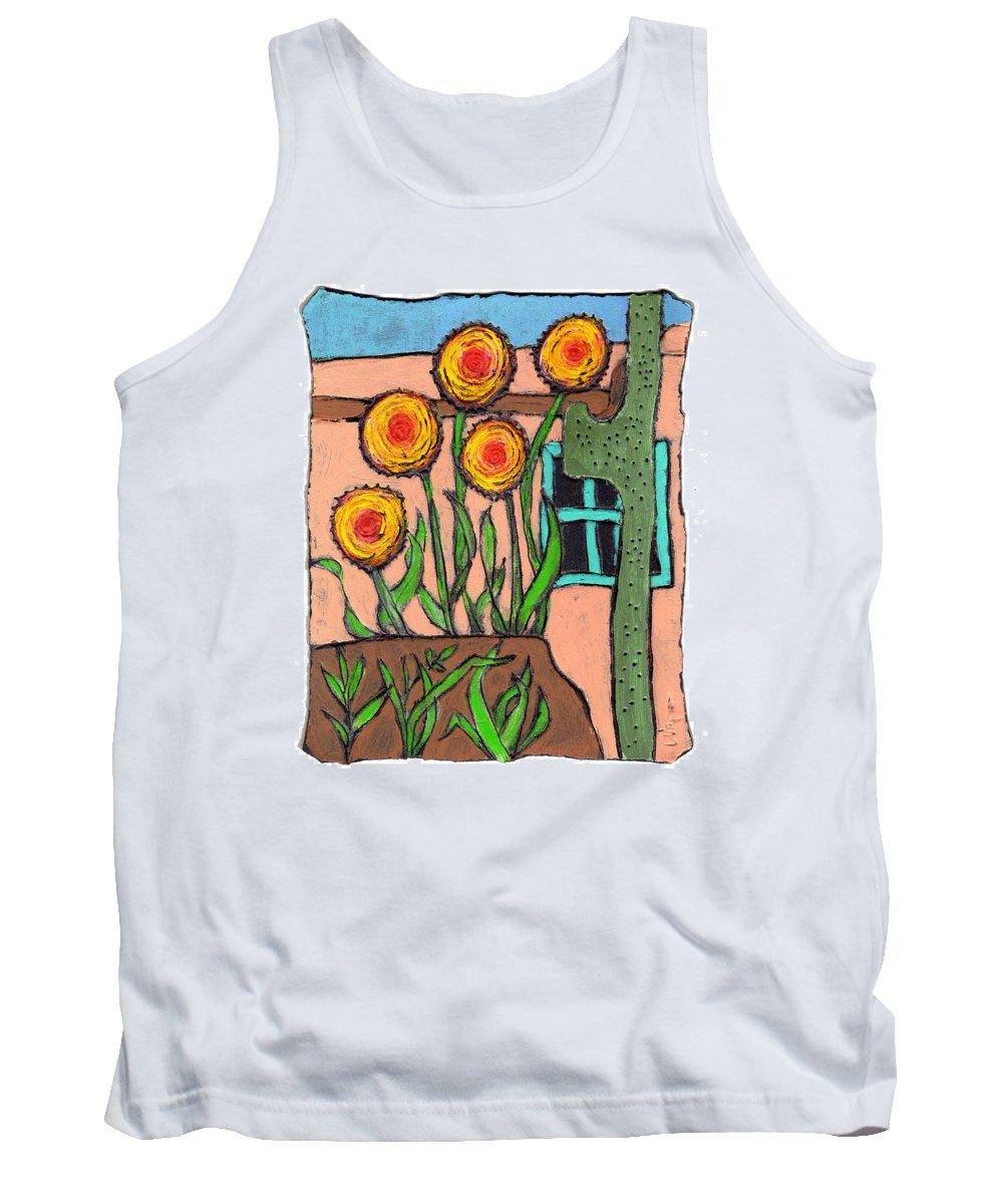 Desert Tank Top featuring the painting Desert Fantasy by Wayne Potrafka