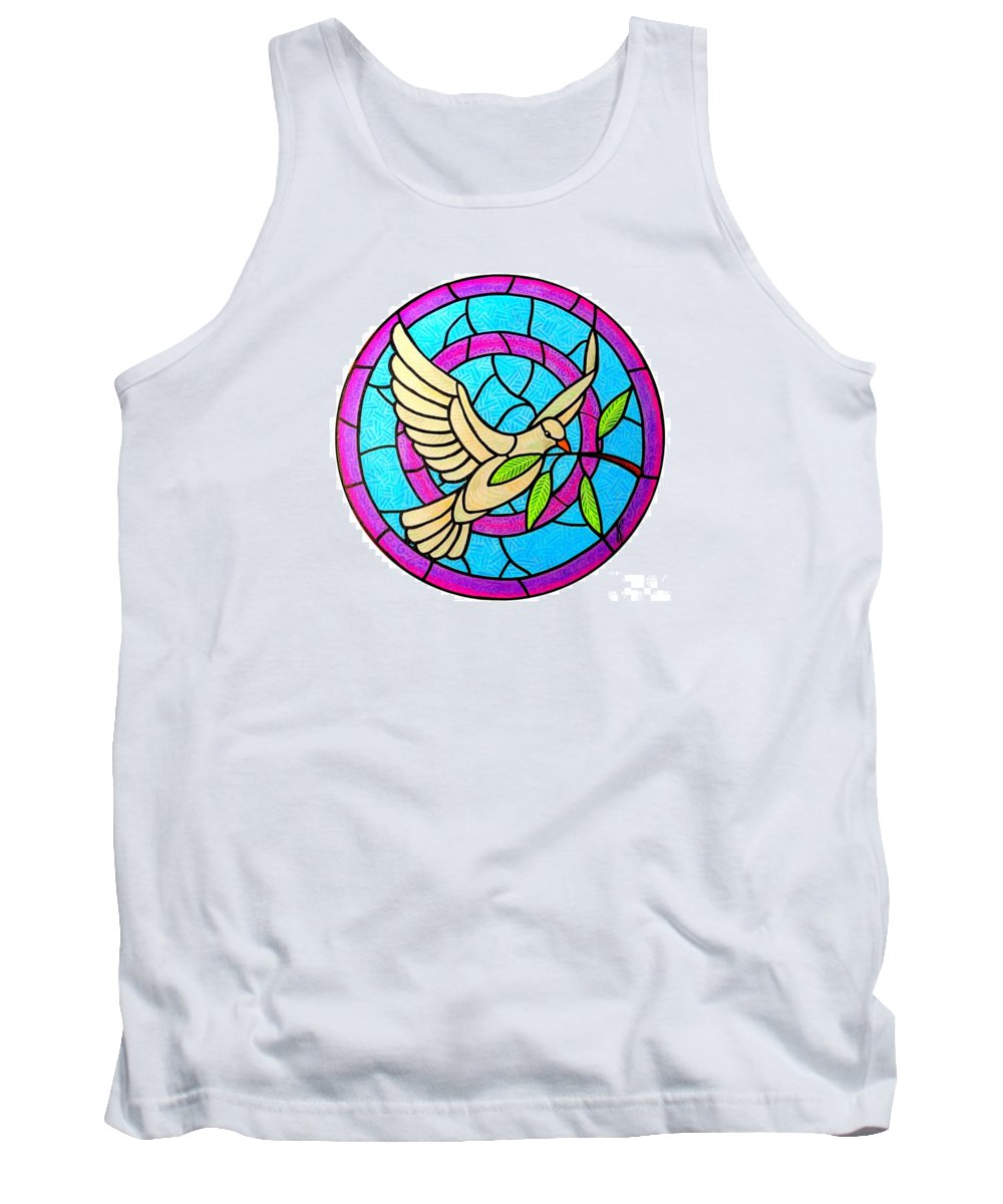 Peace Tank Top featuring the painting Dove of Peace by Jim Harris