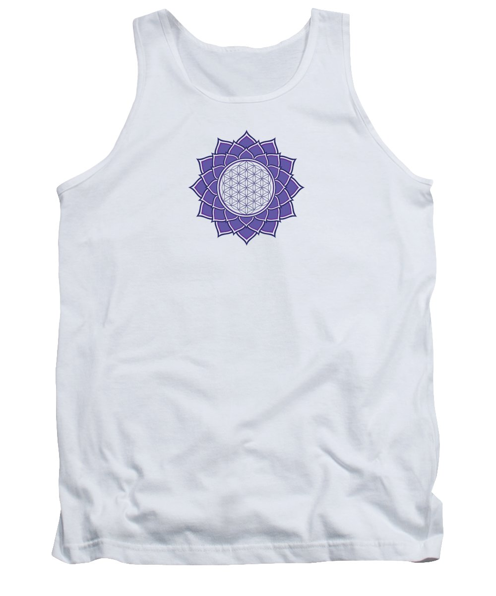 Flower Of Life Tank Top featuring the digital art Flower Of Life by Galactic Mantra
