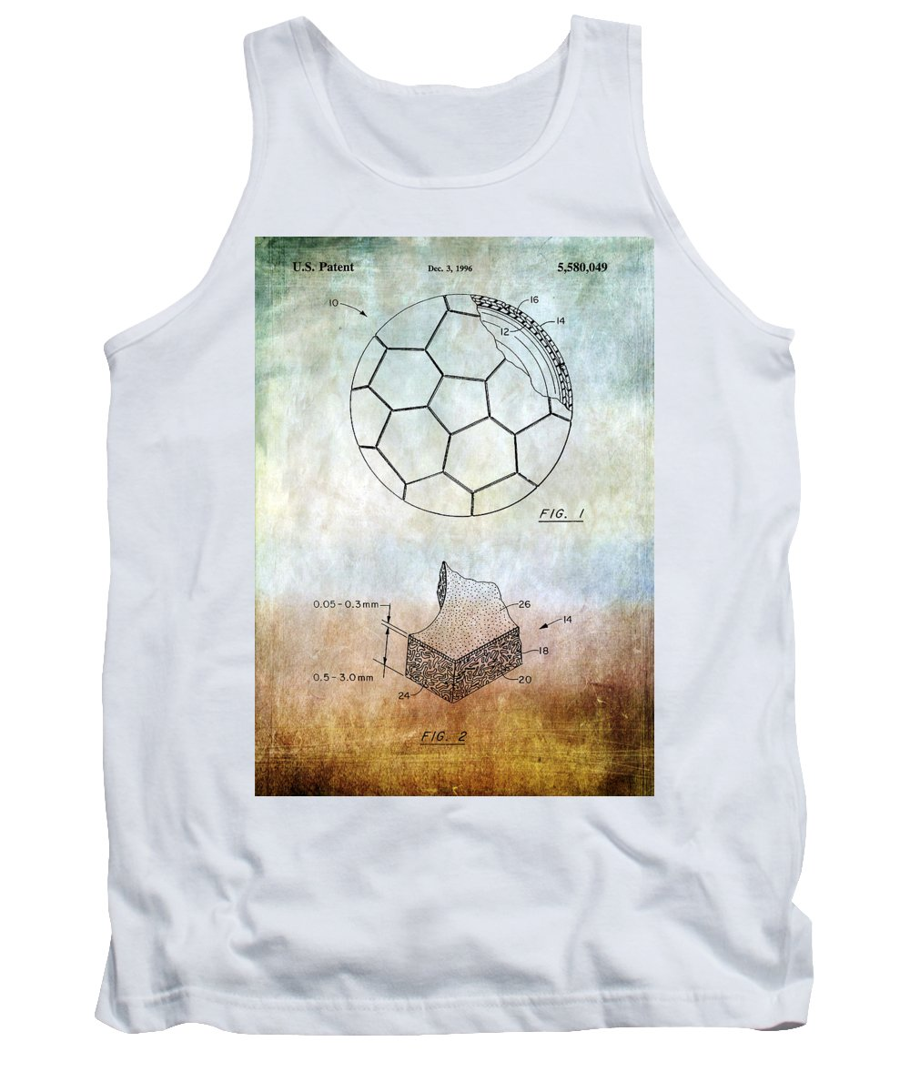 Football Tank Top featuring the photograph Football Patent by Chris Smith