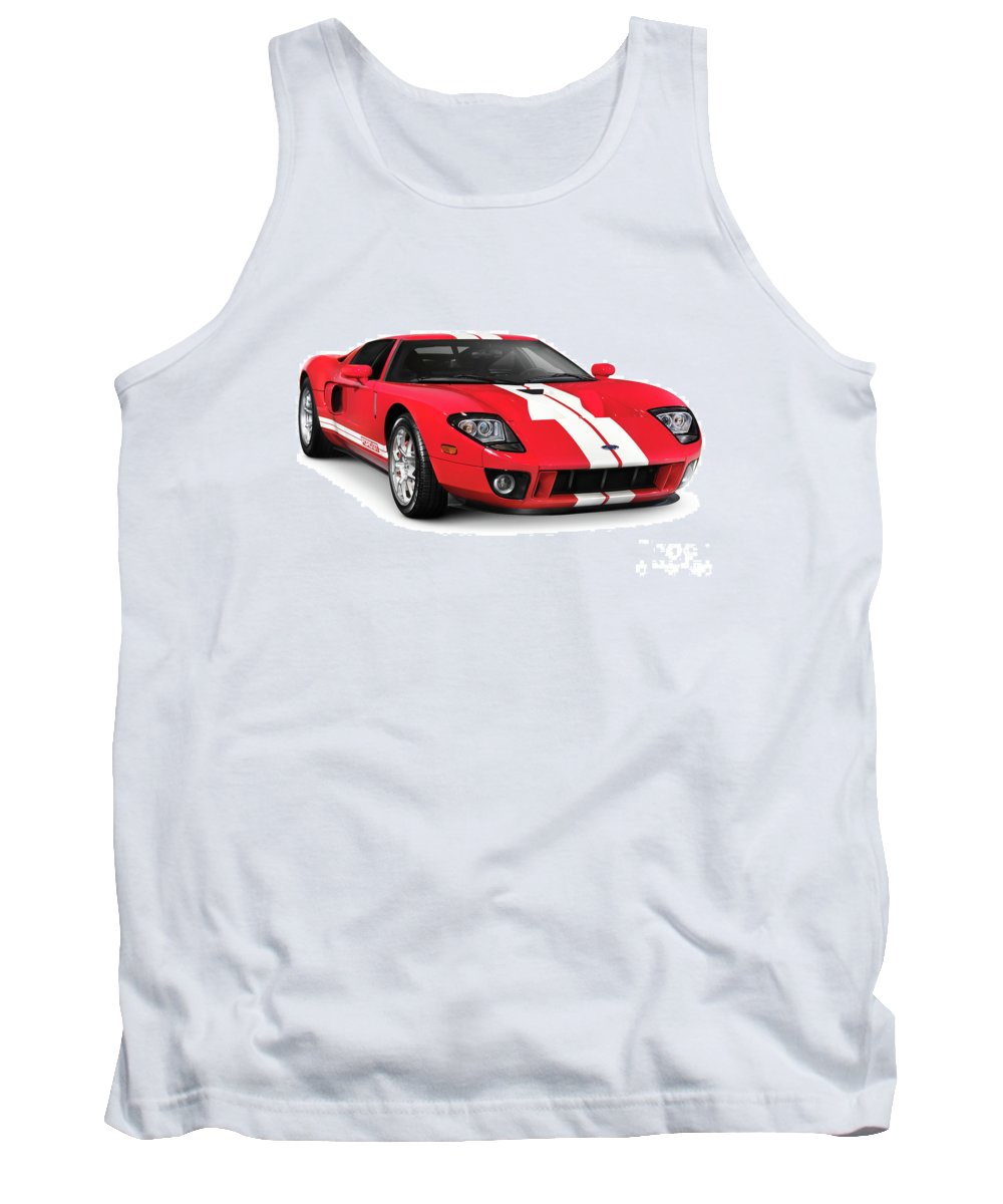 Supercar Tank Top featuring the photograph Ford Gt Supercar by Oleksiy Maksymenko