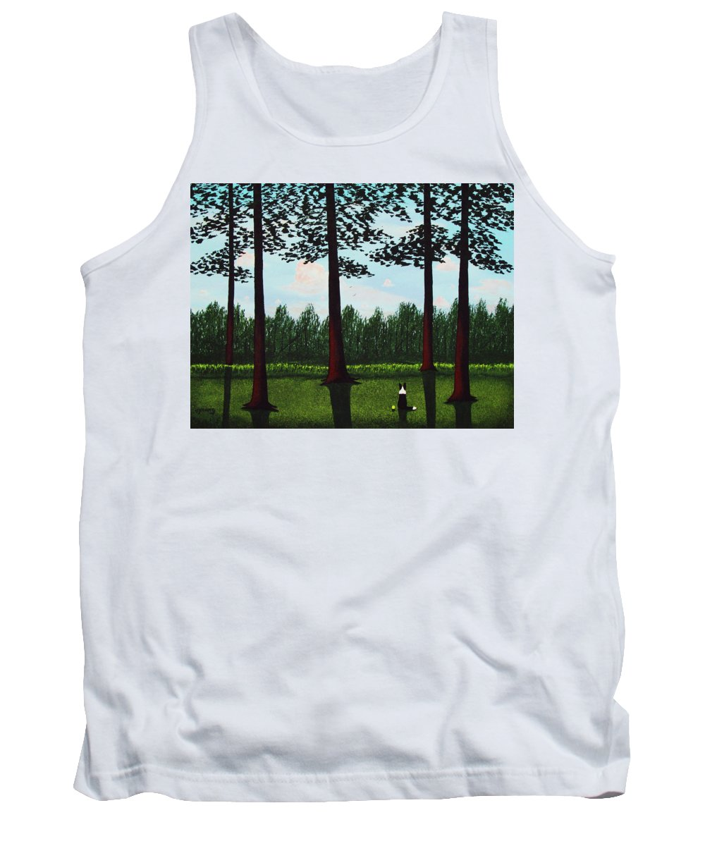 Border Tank Top featuring the painting Forest Edge by Todd Young