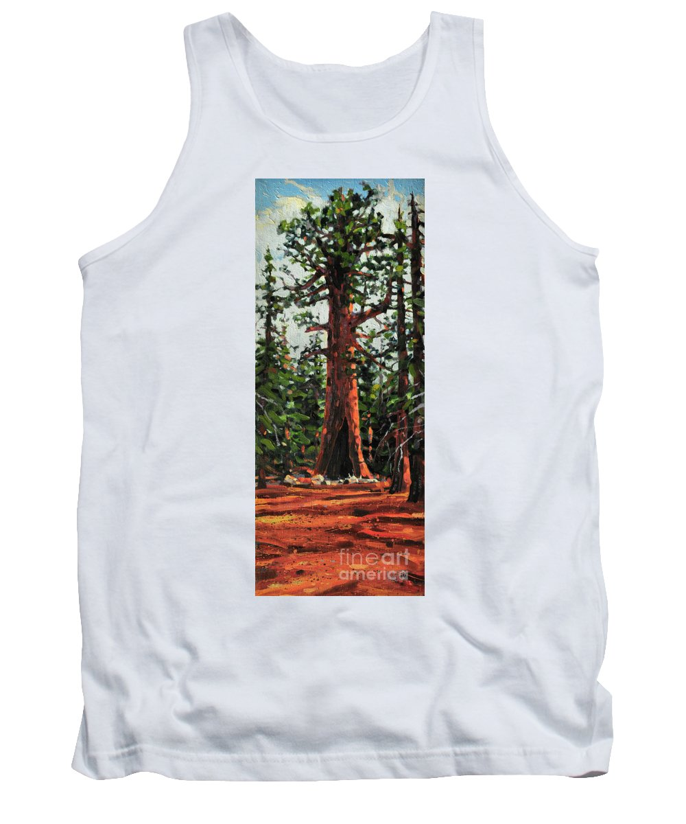 General Sherman Tank Top featuring the painting General Sherman by Donald Maier