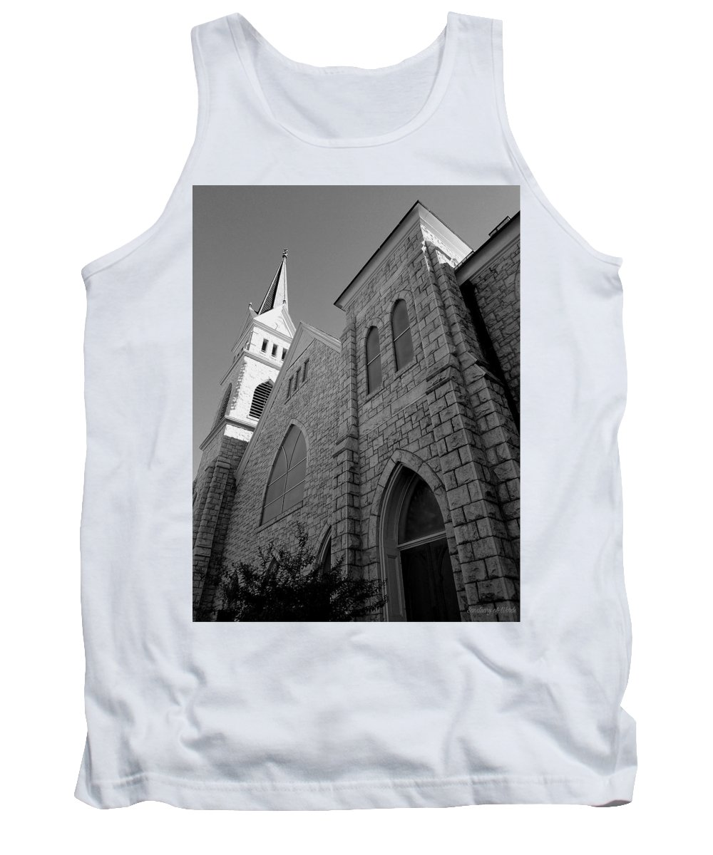 Tank Top featuring the digital art Get To The Point by Sanctuary of Words Gallery