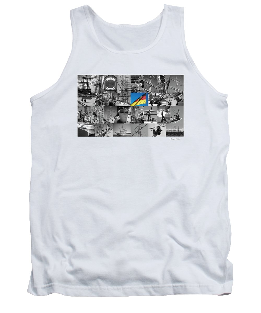 Gorch Fock Tank Top featuring the photograph Gorch Fock 1958 by Juergen Weiss