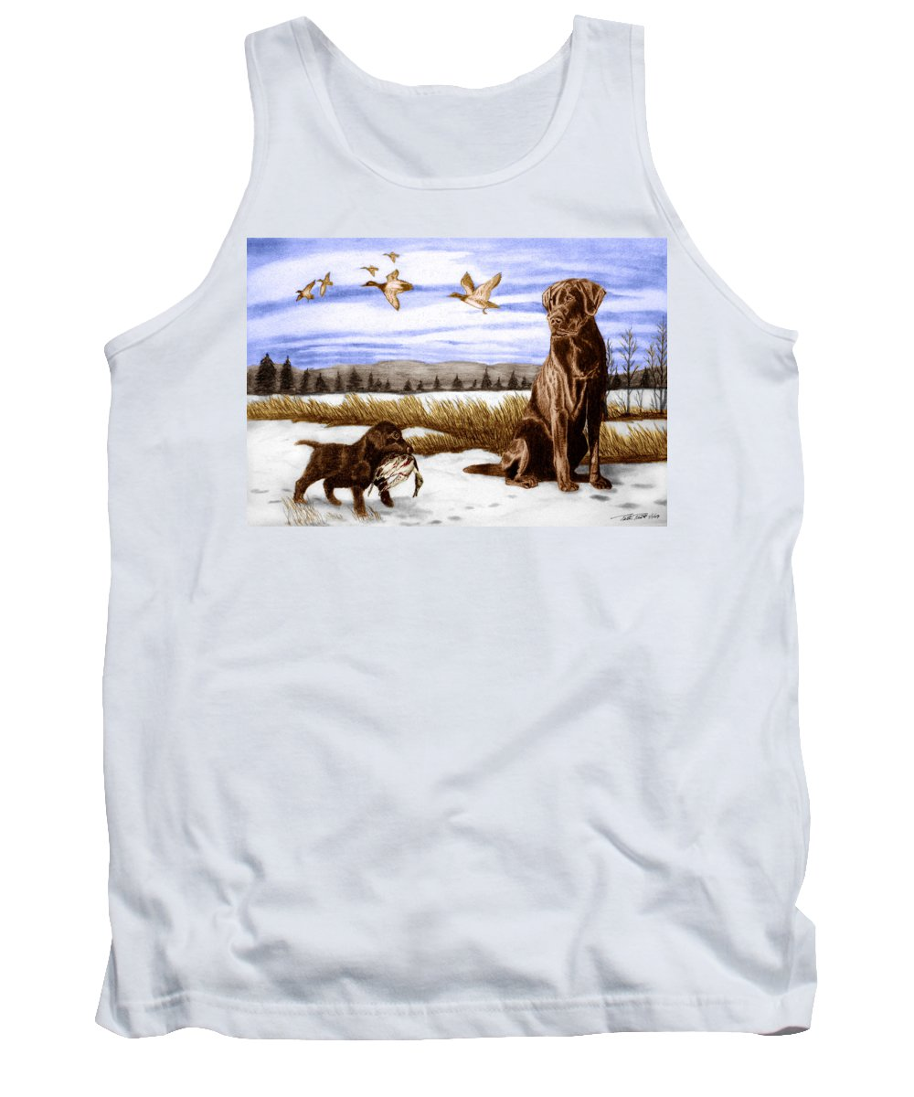 In Training Tank Top featuring the drawing In Training by Peter Piatt