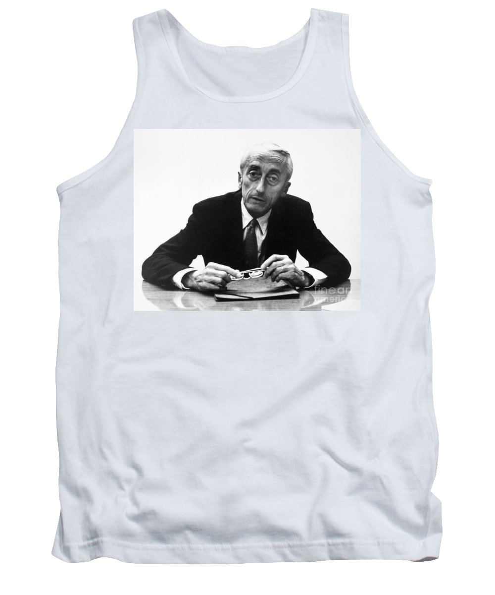 1974 Tank Top featuring the painting Jacques Cousteau (1910-1997) by Granger