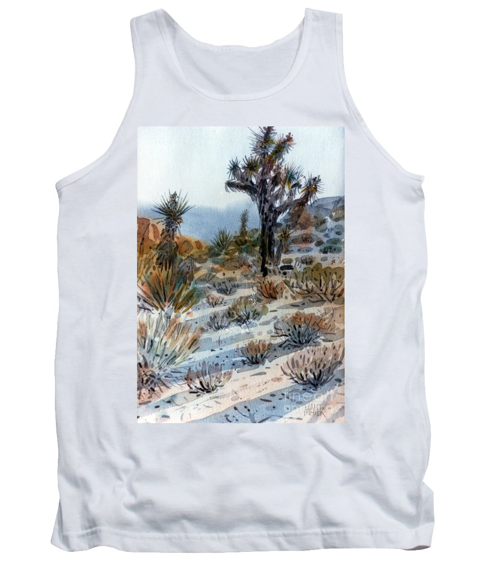 Joshua Tree Tank Top featuring the painting Joshua Tree by Donald Maier