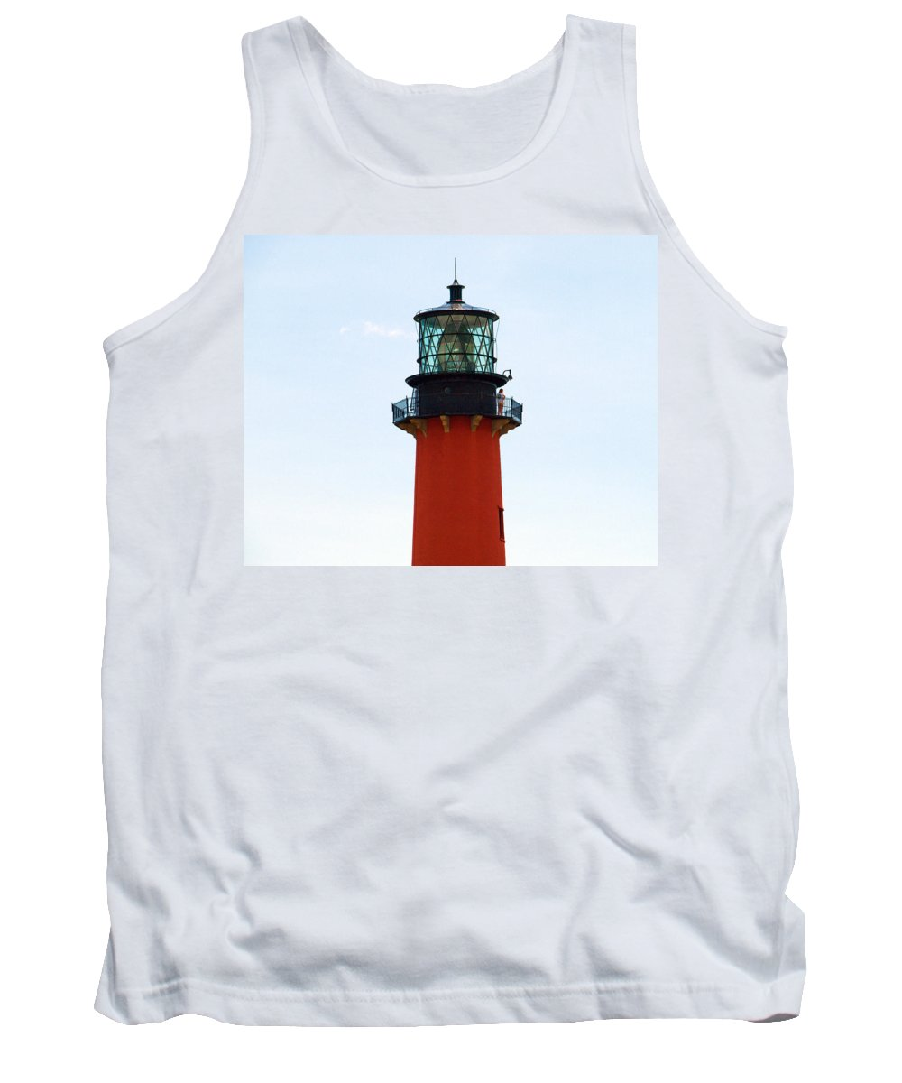 Florida; Juptier; Inlet; Loxahatchee; River; Atlantic; Coast; Shore; Beach; Light; Lighthouse; Beaco Tank Top featuring the photograph Jupiter Inlet Florida by Allan Hughes
