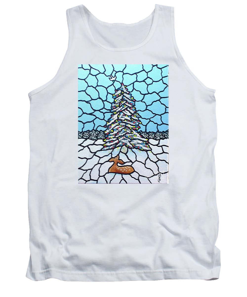 Peace Tank Top featuring the painting Let There Be Peace by Jim Harris