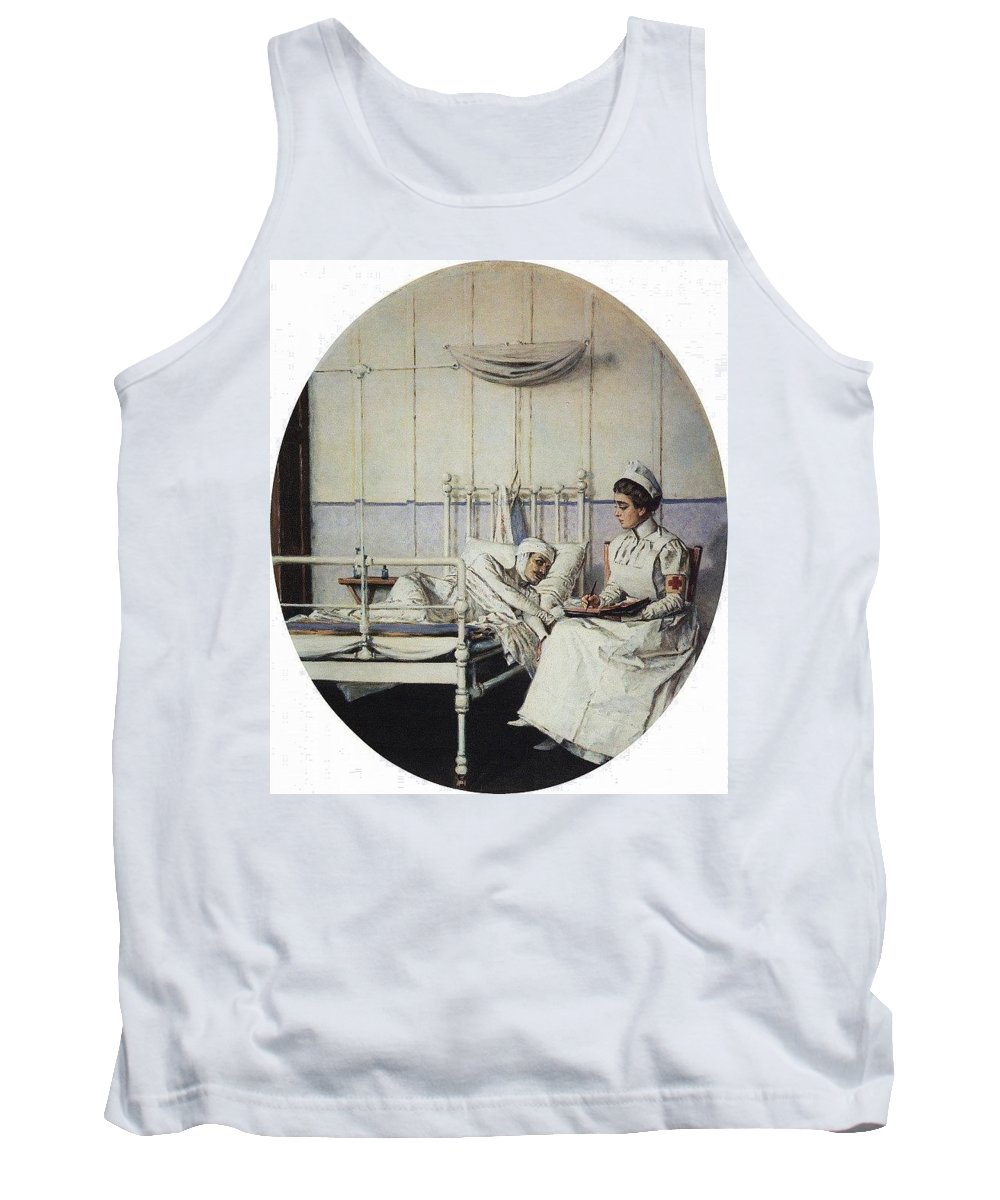 Planetarium Tank Top featuring the digital art Letter Home Letter To The Mother 1901 Vasily Vereshchagin by Eloisa Mannion