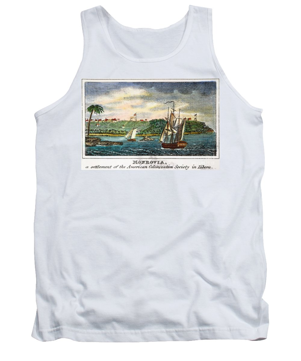 1832 Tank Top featuring the photograph Liberia: Freed Slaves 1832 by Granger