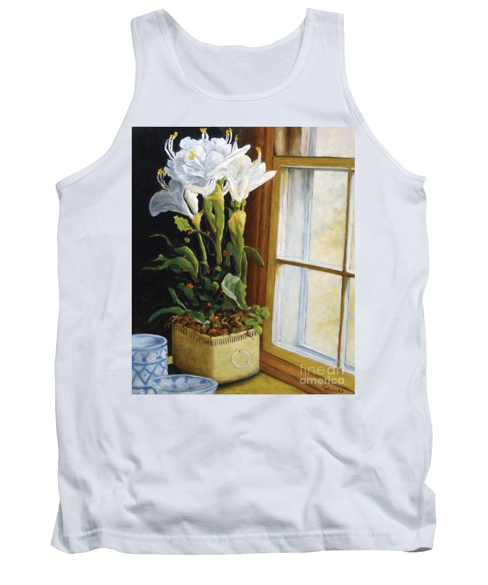 Art Tank Top featuring the painting Lillies by Richard T Pranke