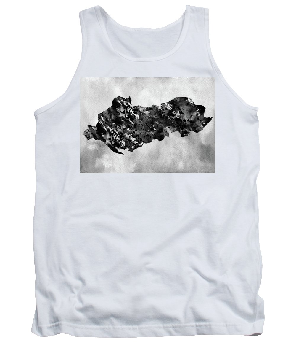 Albania Tank Top featuring the digital art Map Of Albania-black by Erzebet S