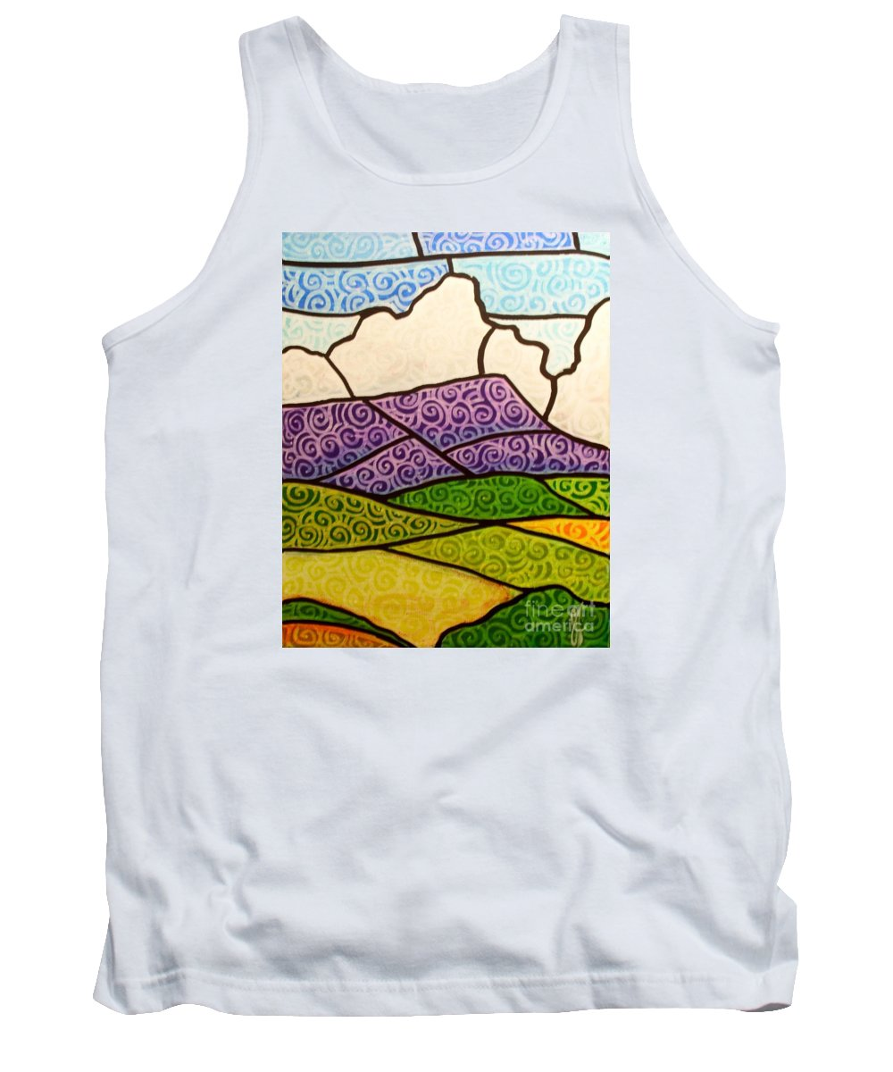 Mountians Tank Top featuring the painting Massanutten Peak by Jim Harris