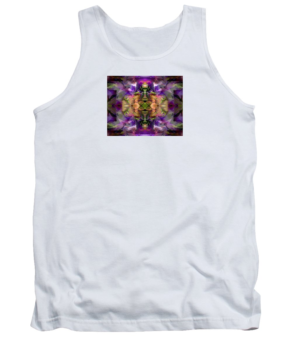 Abstract Tank Top featuring the digital art Mind Portal by Lynda Lehmann