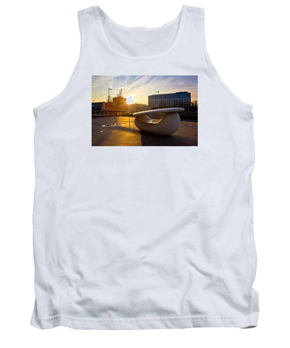 Contemporary Tank Top featuring the photograph Museum Of Contemporary Art In Zagreb Exterior Detail by Brch Photography