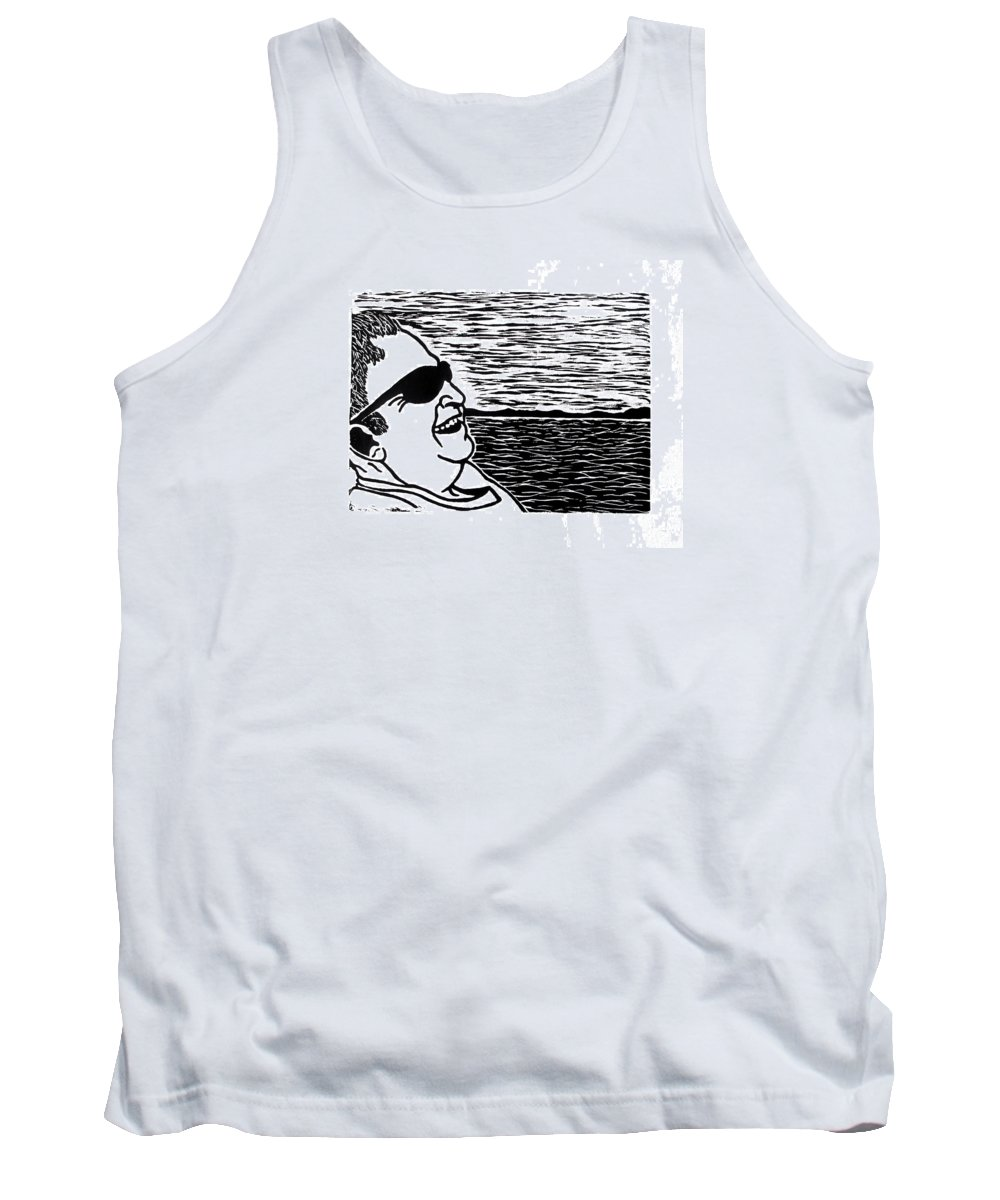 Portrait Tank Top featuring the painting My Grandfather by Tara Tyson