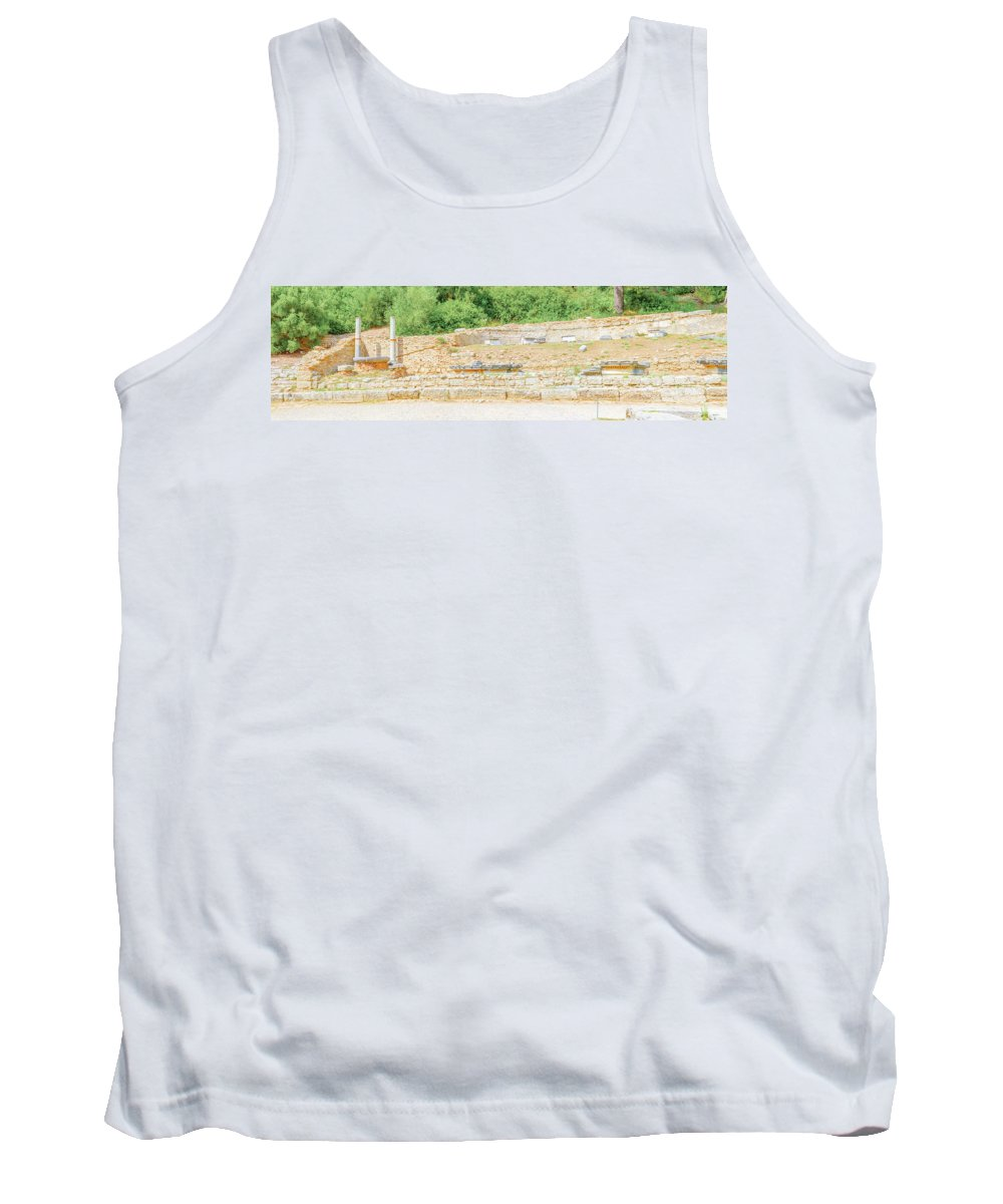 Olympia Tank Top featuring the photograph Nympheum Water Fountain To Herdoes Atticus In Olympia Greece by Marek Poplawski