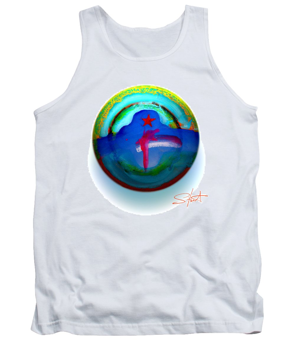 9/11 Tank Top featuring the painting One Tower by Charles Stuart