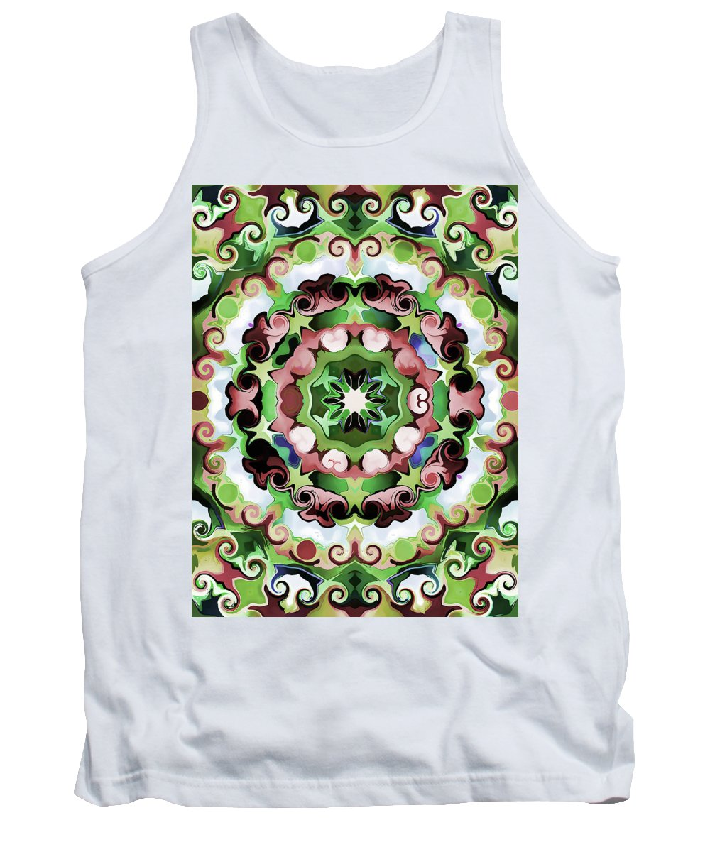 Mandala Art Tank Top featuring the painting Passion by Jeelan Clark